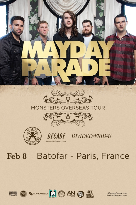 Mayday Parade flyer feb