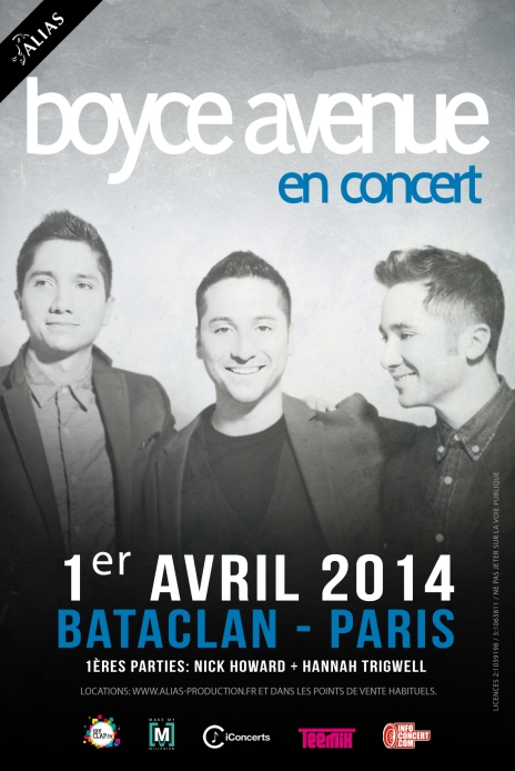 boyce avenue artwork Paris