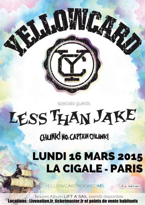 YELLOWCARD & LESS THAN JAKE - La Cigale, 16 mars 2015
